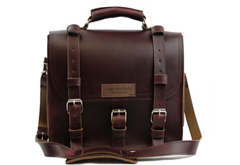 """12"""" Small Lincoln Classic Satchel in Coffee Brown Leather / Lined with Suede"""