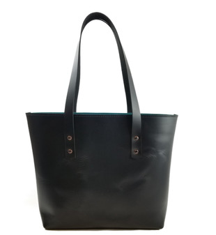 Lexington Classic Leather Tote in Black Excel Leather / Lined with Suede