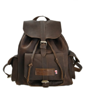 Large Dublin Backpack Chocolate Grizzly Leather