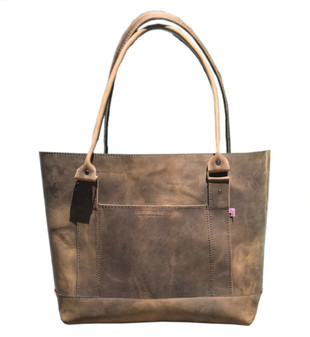 The Westfield Tote Bag - Distressed Oil Tanned Leather