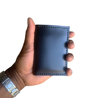 Thick Roughman NewYorker Wallet - Made with Full Grain Black Excel Leather
