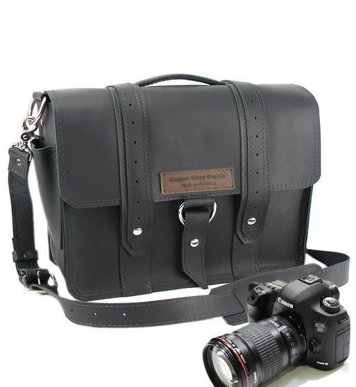 "15"" Large Sonoma Voyager  Camera Bag in Black Excel Leather"