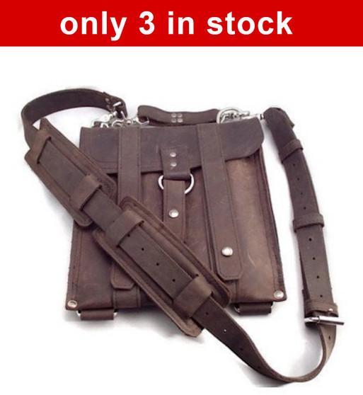 """Slim 10 """" Baxter Messenger iPad messenger (Tablet) Bag in Brown  Oil Tanned Leather  *( Only 3 Left)"""