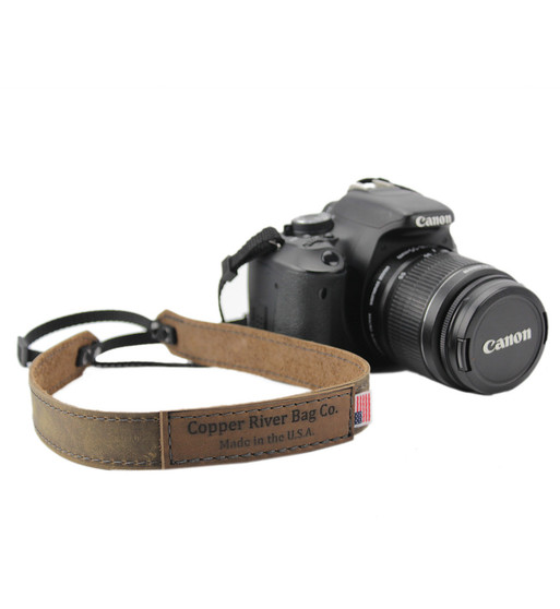 Leather Camera Strap - Made with Distressed Tan Leather