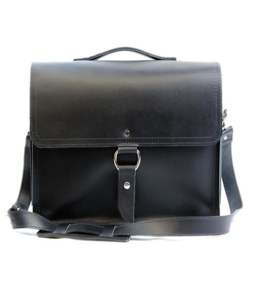 "10"" Small Safari Midtown iPad (Tablet) Bag in Black Napa Excel Leather"