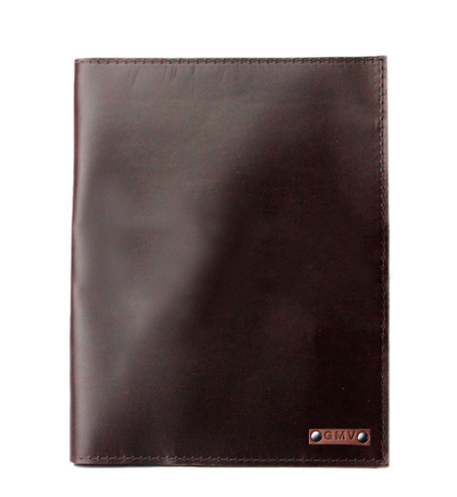Classic 8.5X11 Padfolio in Chocolate Brown Latigo Leather Made in the U.S.A. - PDF-COF-EXL-8.5X11