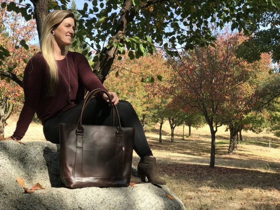 The Westfield Tote Bag - Coffee Brown Excel Leather