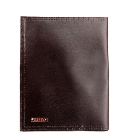 "Left handed  Classic 8.5""x11"" Padfolio in Coffee Brown Excel Leather"