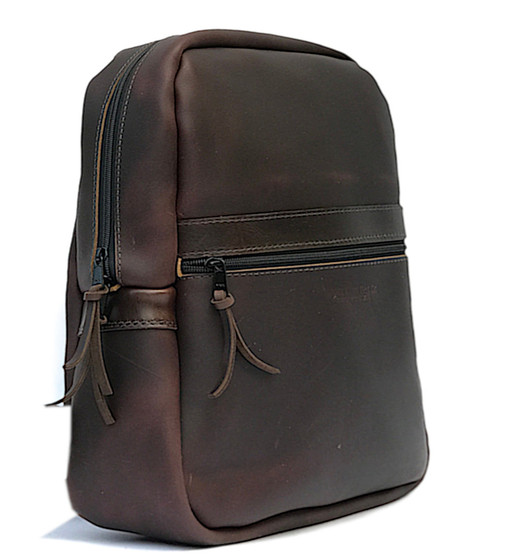 Copper Backpack Coffee Excel Leather