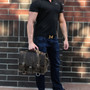 """15"""" Large Belmar BuckHorn Briefcase in Distressed Tan Oil Tanned Leather"""