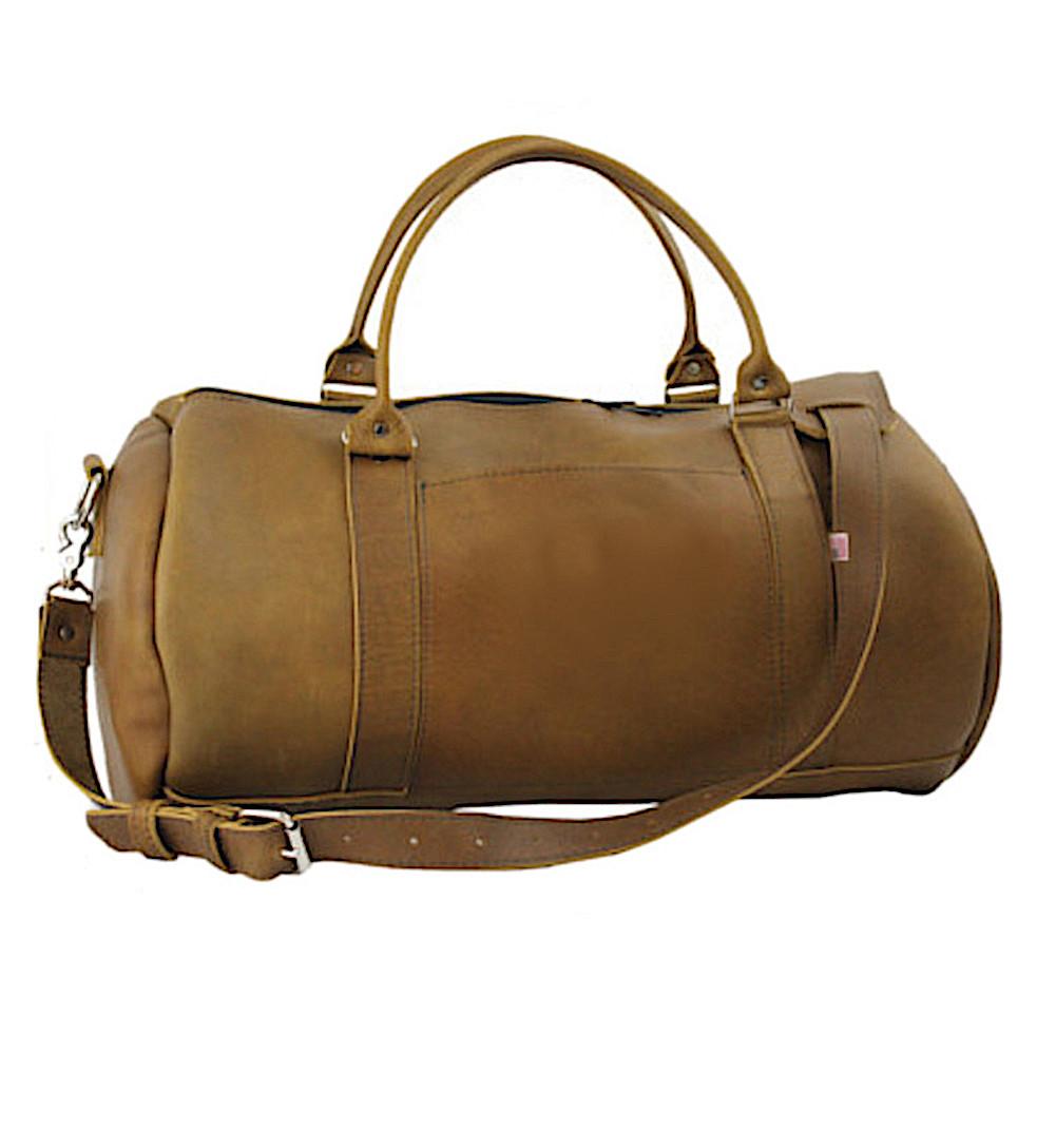 "95922c86e5ad USA Made Duffel Bags - Rimini 18"" Round Carry on Leather Duffel Bag ..."