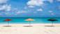 Jolly Beach Antigua umbrellas
