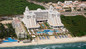 Aerial view of the RIU Palace Pacifico Resort & beach in Puerto Vallarta.