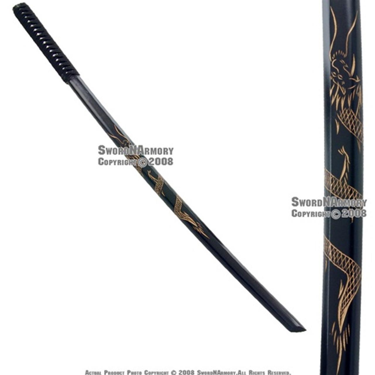 """Kendo 40/"""" Wooden Bokken Practice Sword Dragon Engraved"""