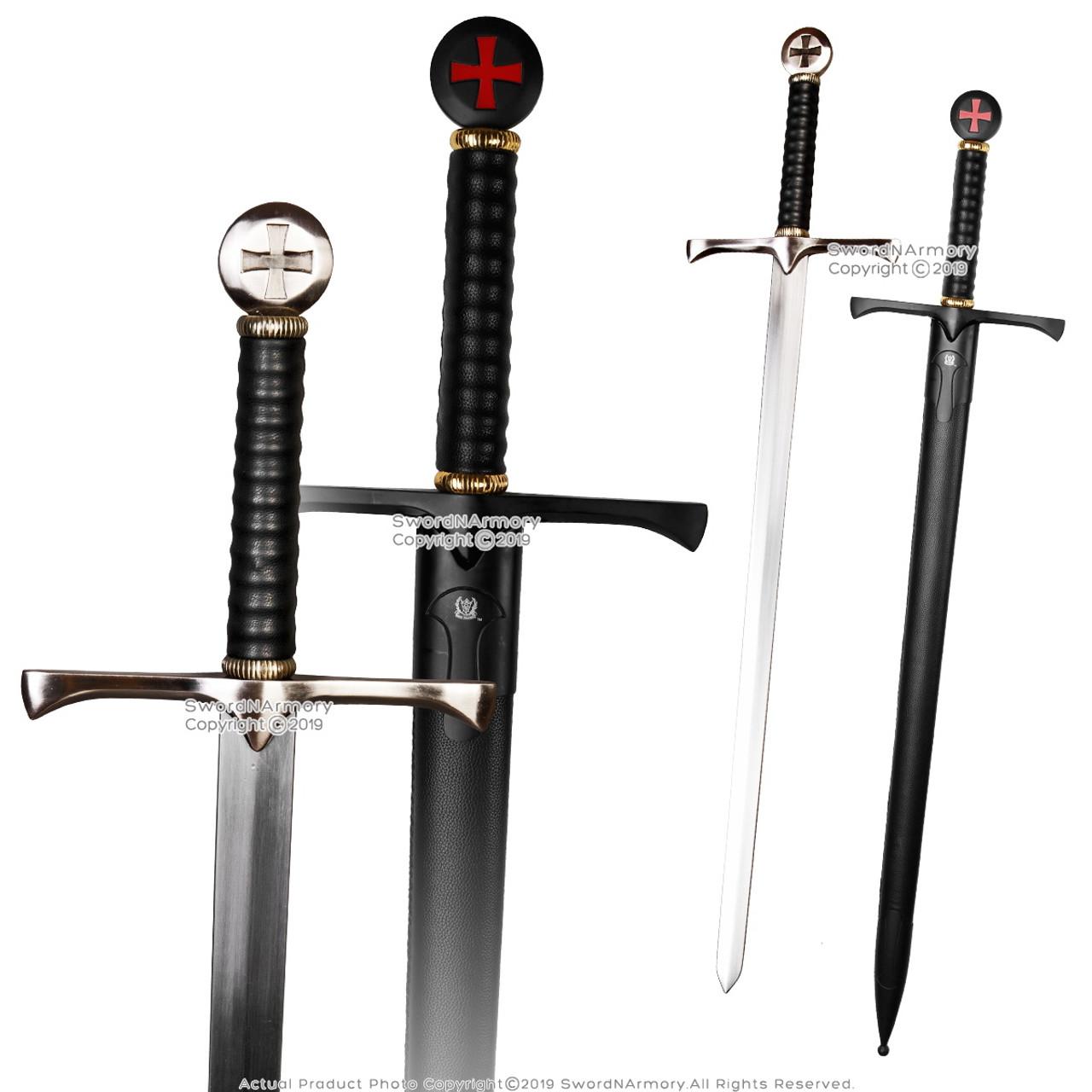 "41/"" Templar Crusader Medieval Knight/'s Arming Sword with Scabbard Cross Pommel"