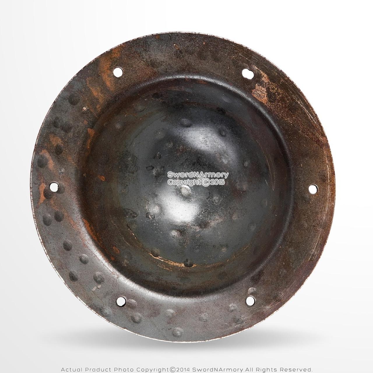 """14 Gauge Steel 7.5/"""" Combat Grade Functional Medieval Shield Boss Umbo SCA HEMA"""