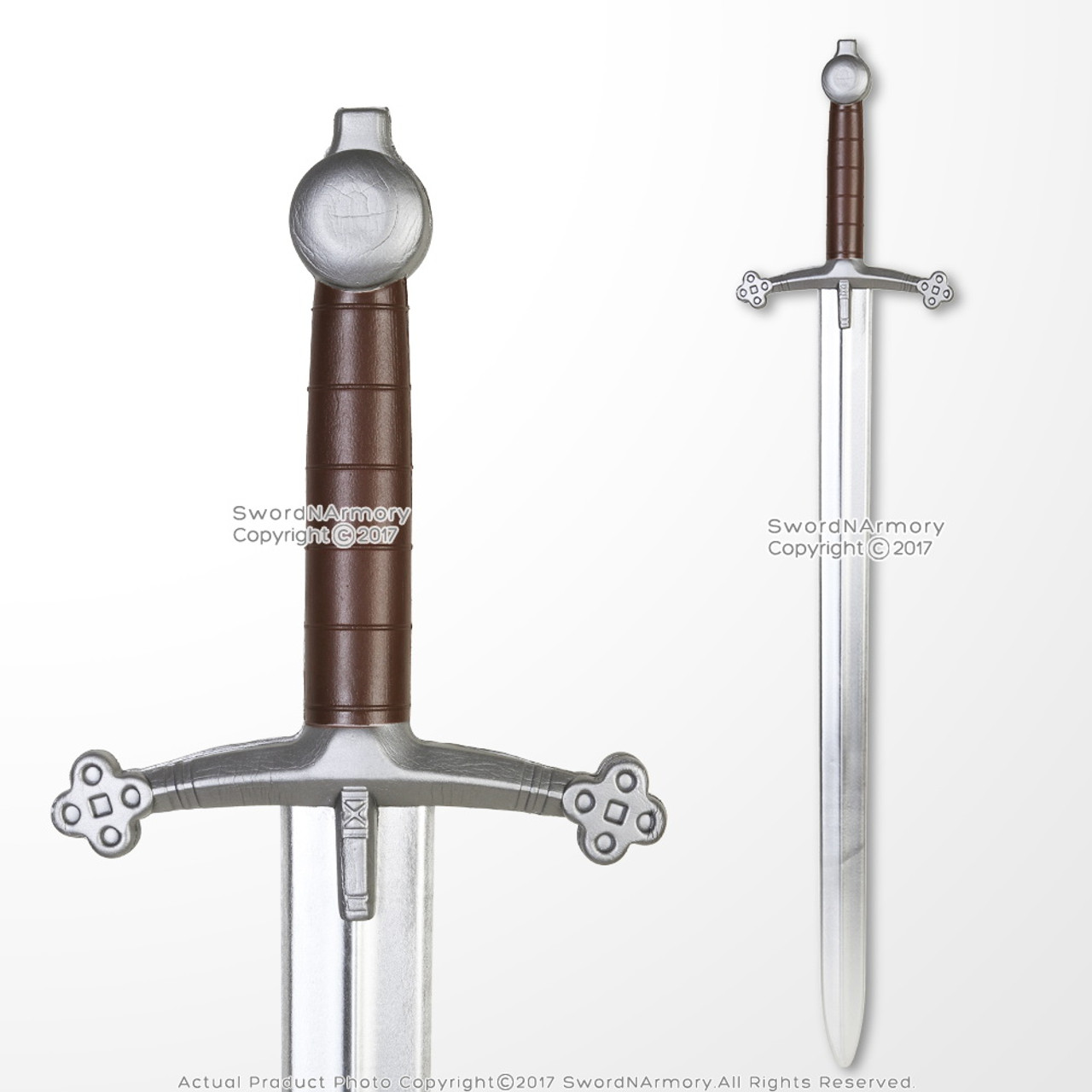 "41/"" Medieval Scottish Claymore Sparkfoam Foam Sword w// Chrome Blade  LARP"