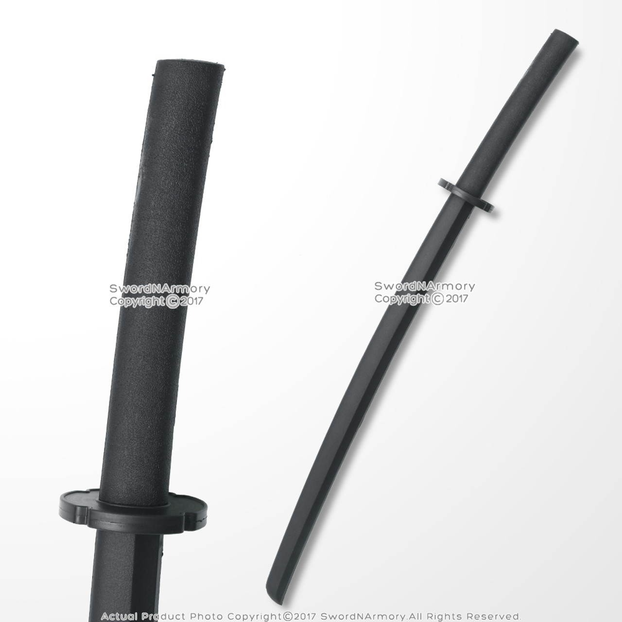 Heavy Weighted Plastic Training Striking Stick Black Polypropelene Bo Staff