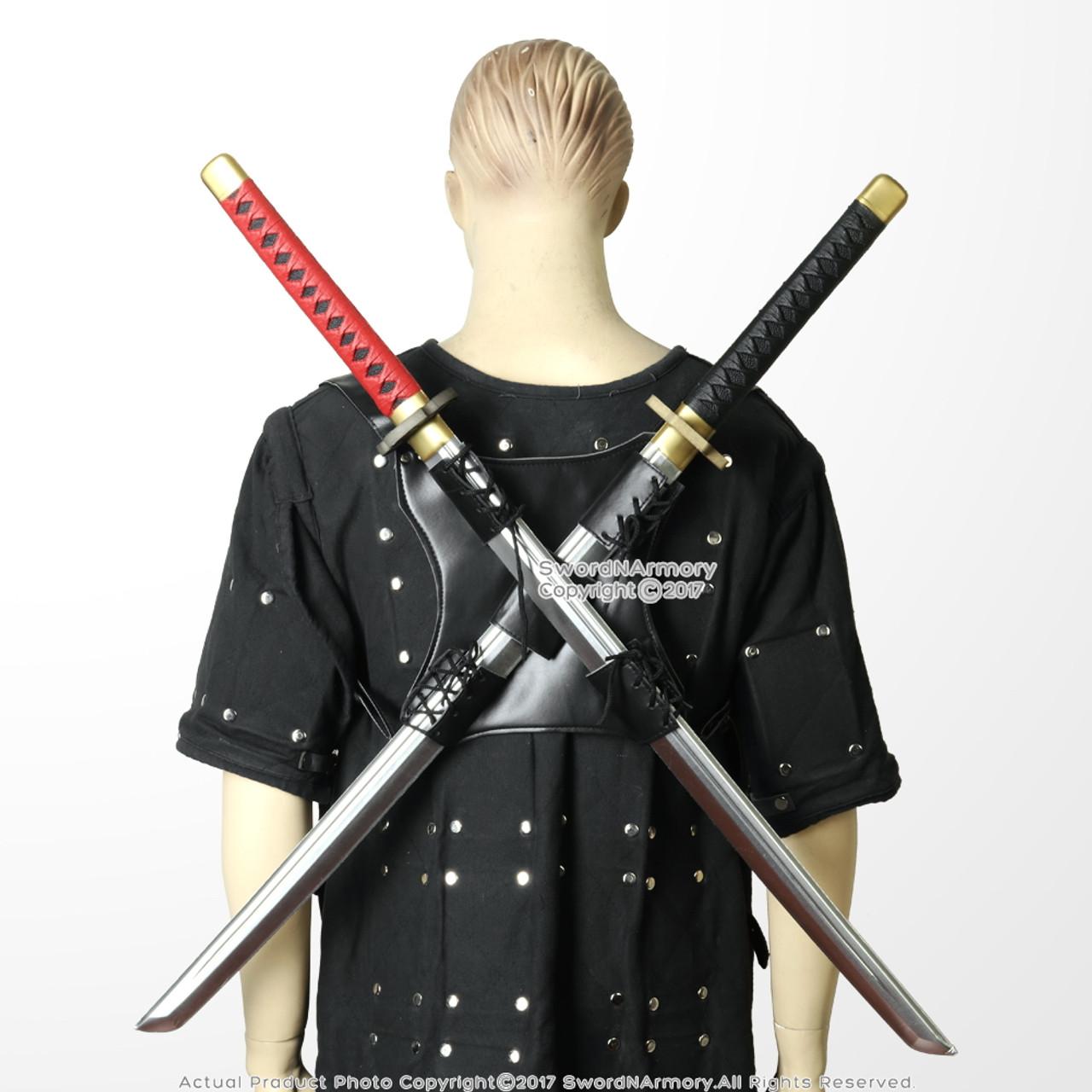 Dual Sword Back Scabbard Holder Harness