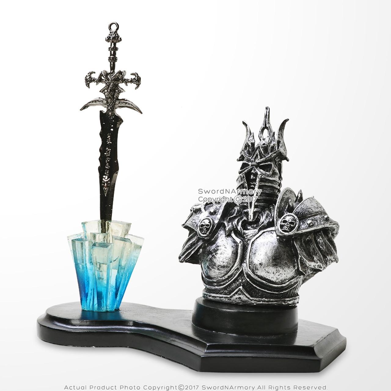 Demon Knight Fantasy Letter Opener Display Stand For Desk Home Decor