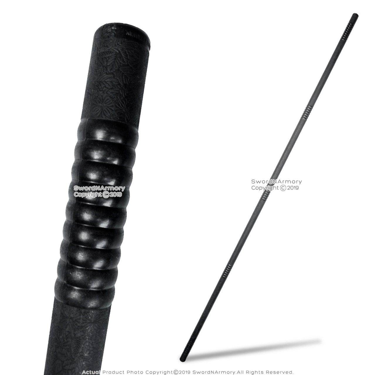 Black Traditional Hardwood Bo Staff for Martial Arts Karate Kali Stick 6 ft//72/""