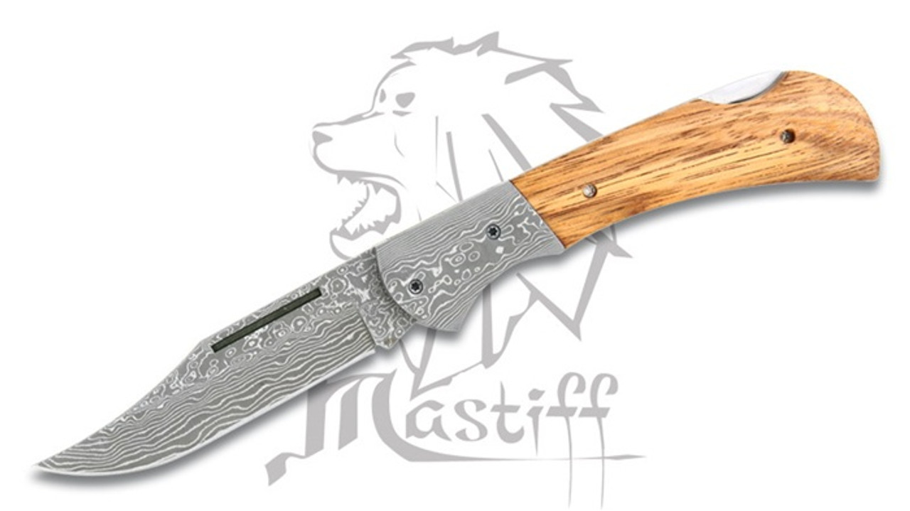 japanese folded steel kitchen knives mastiff japanese damascus folded steel folding knife w zebrawood handle hrc 58 9659