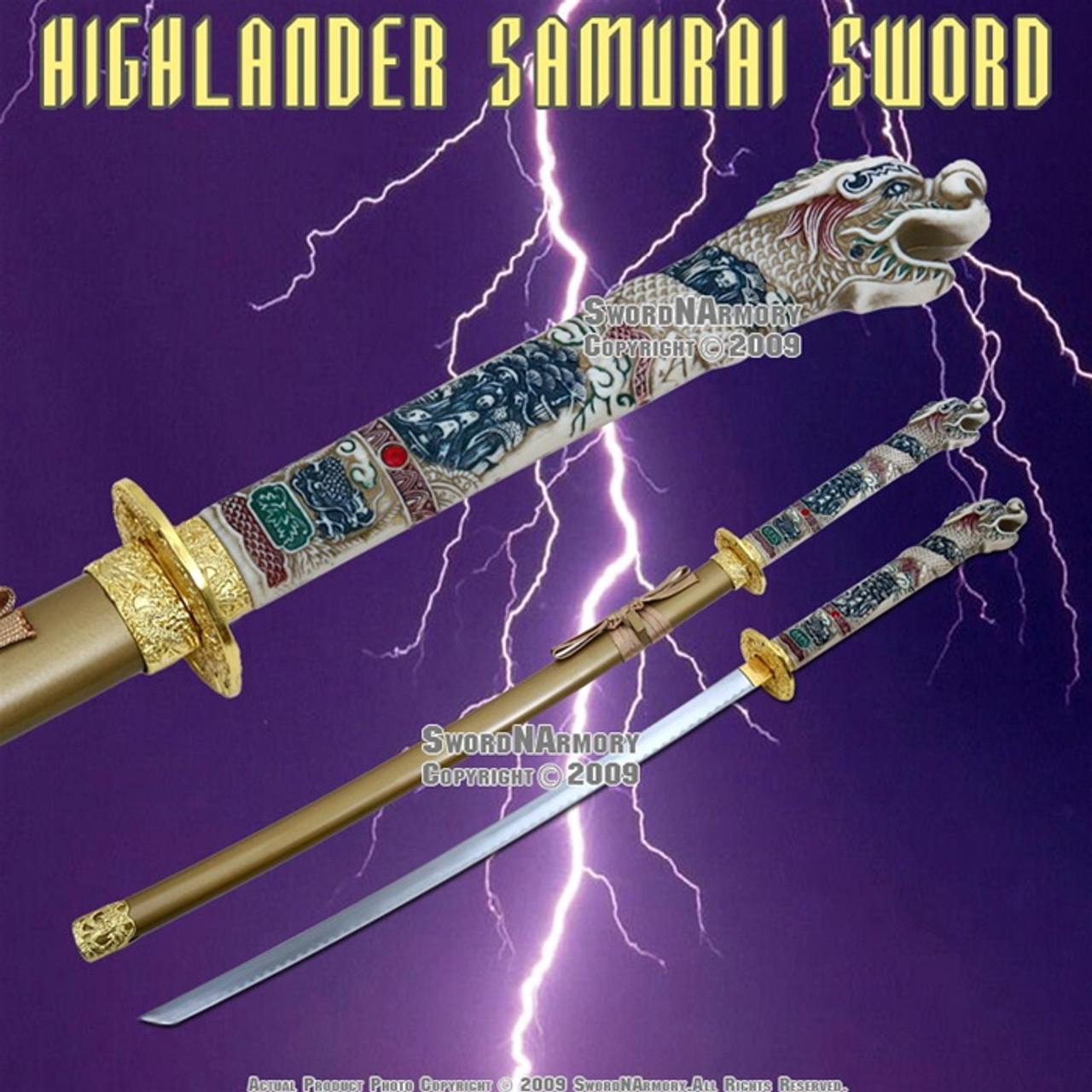 "42/"" Open Mouth Dragon Samurai Katana Sword with Red Scabbard Brand New"