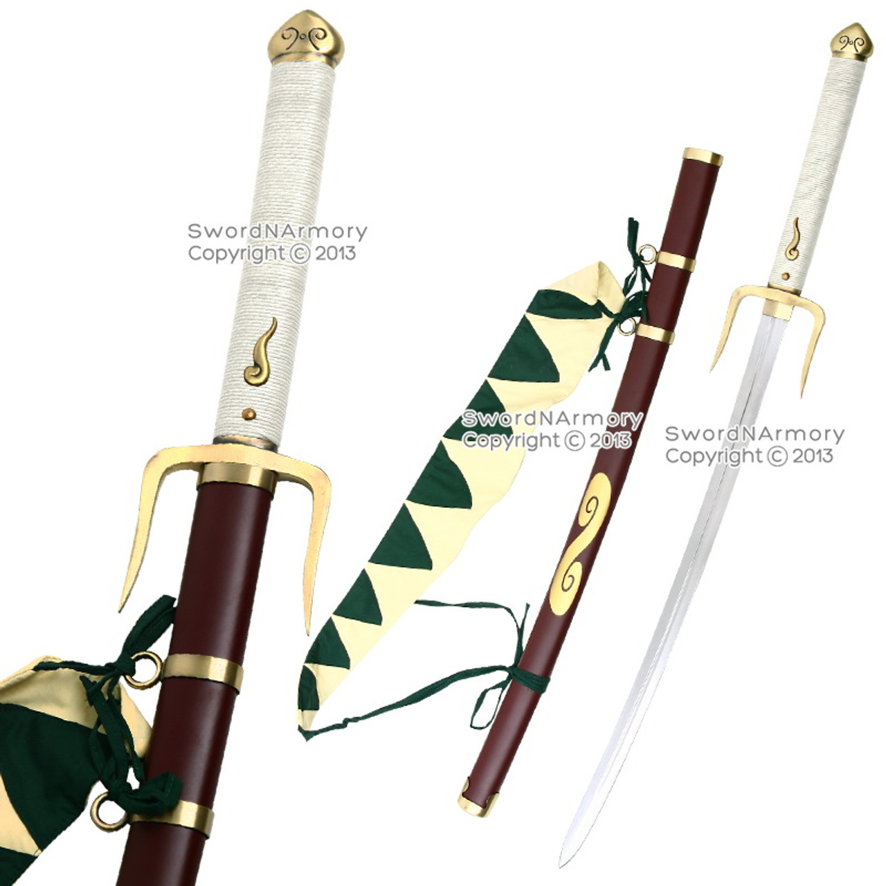 Samurai Champloo MUGEN Katana Typhoon Swell Anime Samurai Sword Steel Replica
