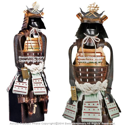 "17"" Japanese Warloard Naoe Kanetsugu Shogun Samurai Suit of Armor Miniature"