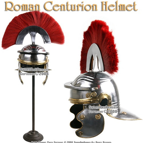 Roman Centurion Helmet Armor Helm With Red Crest