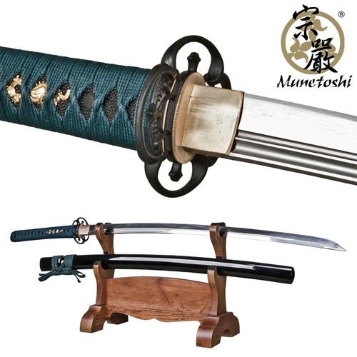 Munetoshi Viper Unokubi Zukuri Katana 1075 Spring Steel Samurai Sword Sharp GN