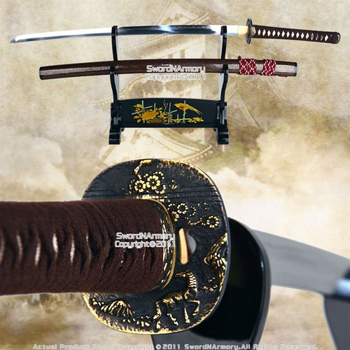 Handmade Musashi Wave Carbon Steel Katana Samurai Sword