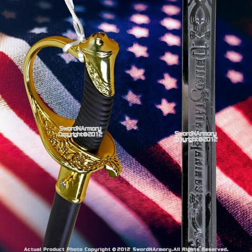 """15"""" Medium Size NCO USA Marine Corps Dress Uniform Sword Replica Gift Souvenir"""