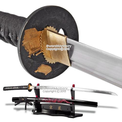 Handmade Musashi Forge Dragon Scabbard Katana Samurai Sword