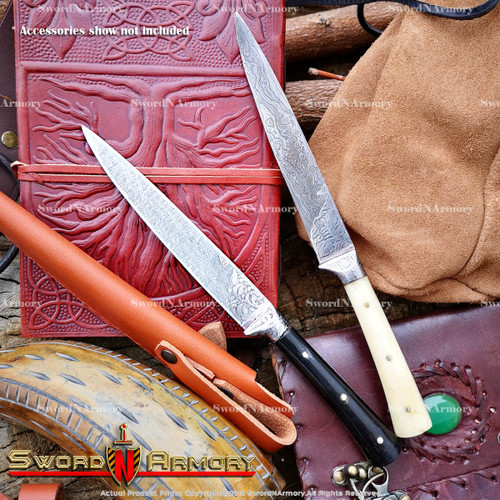 Folded Steel Damascus Handmade Fixed Blade Knife