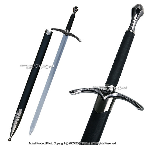 "38.5"" Long Medieval Crusader Knights Wizard Arming Sword Chivalry with Scab"