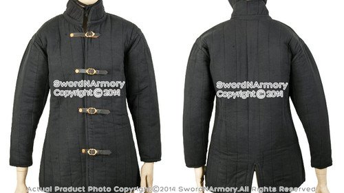 Gambeson Type IV Medieval Padded Armour Coat SCA LARP Jacket