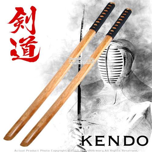 """31 """" Set of 2 Wakizashi Wooden Bokken Practice Sword"""