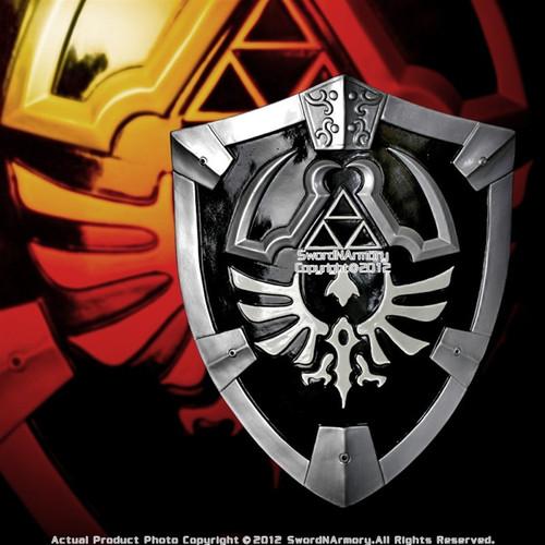 Black Zelda Shield with Grip & Handle