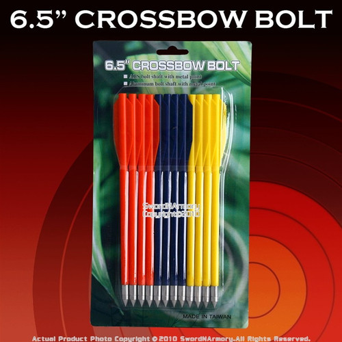 "12 PCS 6.5"" 50LBS Crossbow Bolt Arrows ABS"