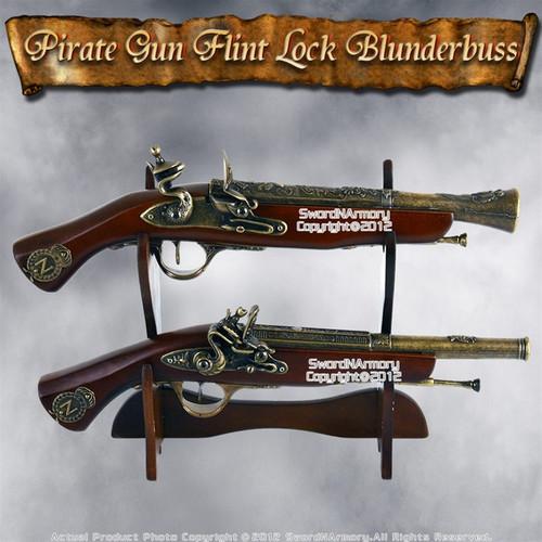 Replica Flint Lock Blunderbuss Napoleonic Officers Pistol Dueling Set