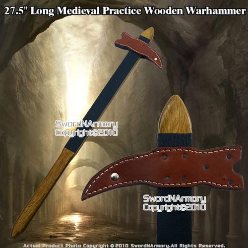 "27.5"" Viking Medieval Practice Wooden War hammer Waster"