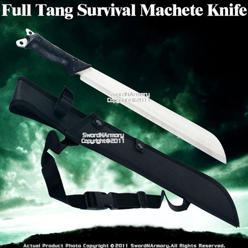 Full Tang Jungle Survival Machete Sword Knife W/ Sheath