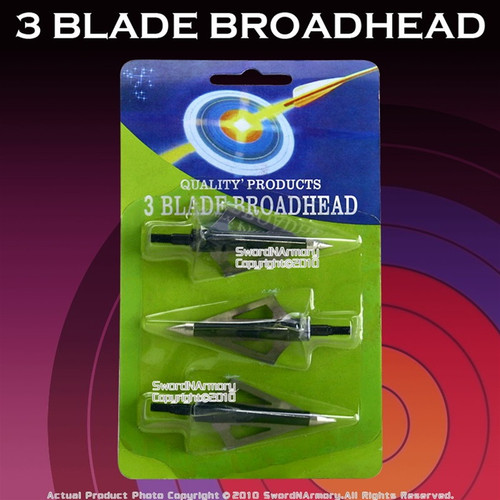3 Sided Broad Arrow Head Crossbow Bolt Heads Steel