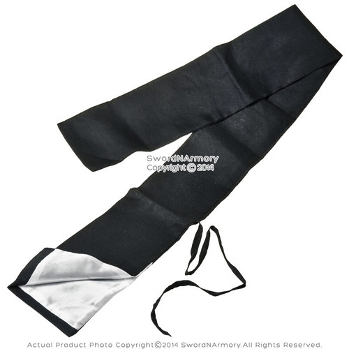 Basic Black Cotton Samurai Katana Sword Bag with Gossamer Inside