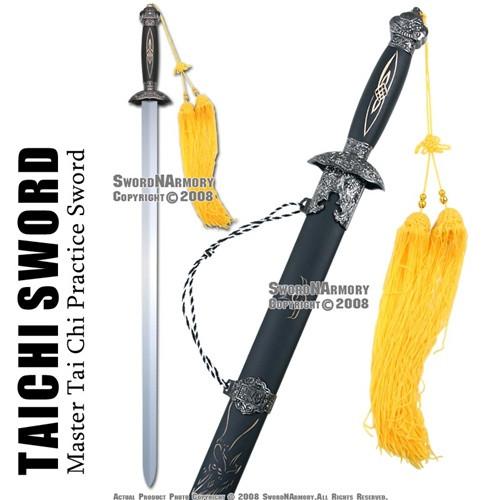 Spring Steel Tai Chi Kung Fu Martial Art Practice Sword