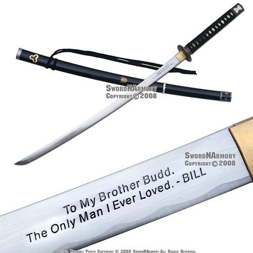 Musashi Brand Handmade Kill Bill Budd's Samurai Katana Sword Sharp