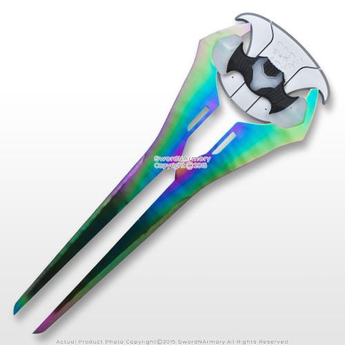 "Energy Sword Titanium Color 29"" Covenant Plasma Fantasy Blade with Wall Plaque"
