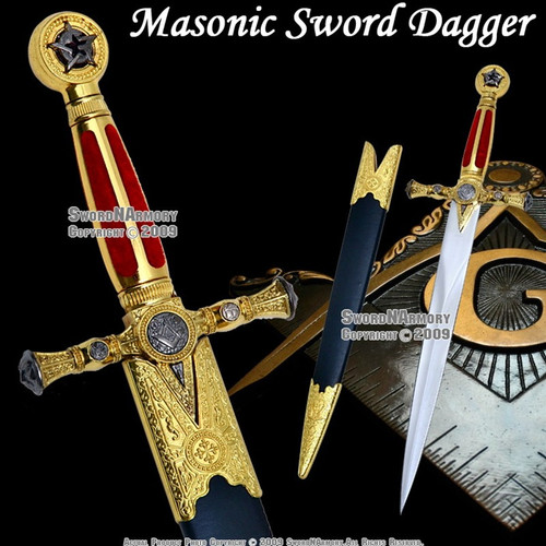 Masonic Ceremonial Dagger Templar Knight Freemasonry 1