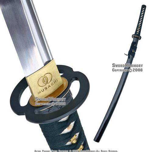 Musashi Handmade Japanese Samurai Sword Katana 1060 Differential Harden Steel